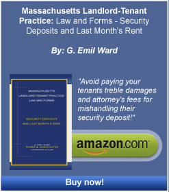 Amazon link to Emil Ward's book Massachusetts Landlord Tenant Practice